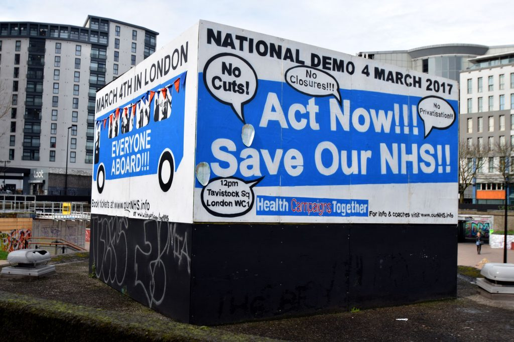 bearpit cube save our nhs sculpture non-corporate billboard community political bristol stokes croft prsc alternative art