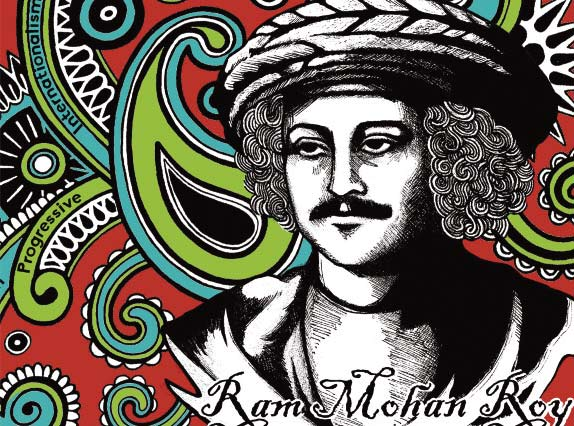 Ram Mohan Roy Journey to Justice Bristol 2017 art by Zamzam