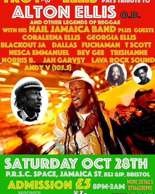 Troy Ellis Pays Tribute to Alton Ellis O.D. and other legends of Reggae