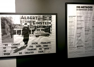 Albert Einstein and 198 Methods of non violent action prints