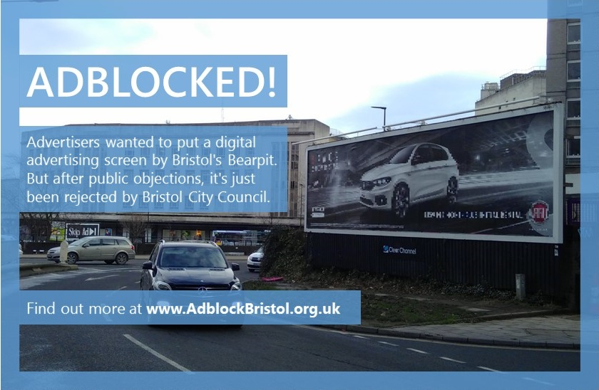 adblock bristol digital billboards people power protest bearpit illegal
