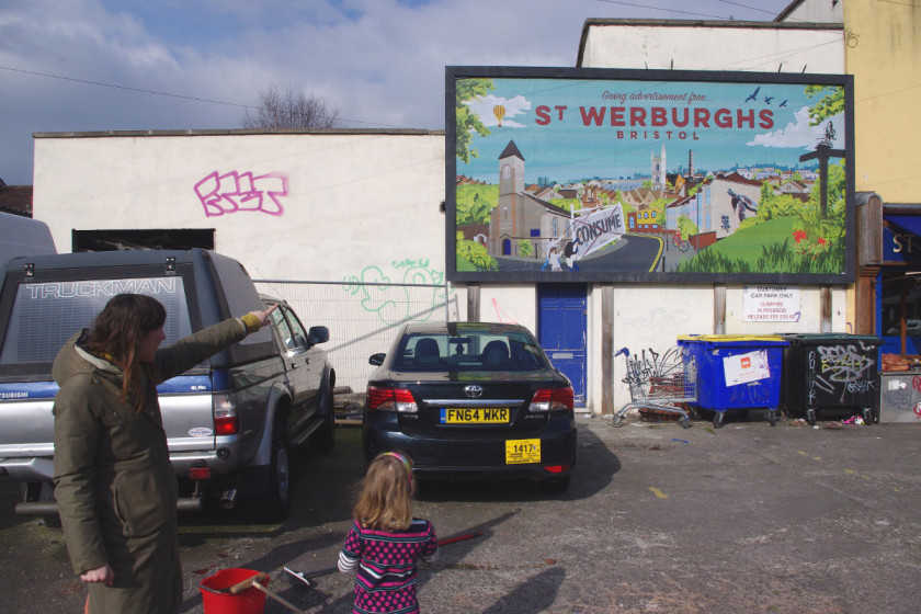 adblock bristol digital billboards people power protest st werburghs community