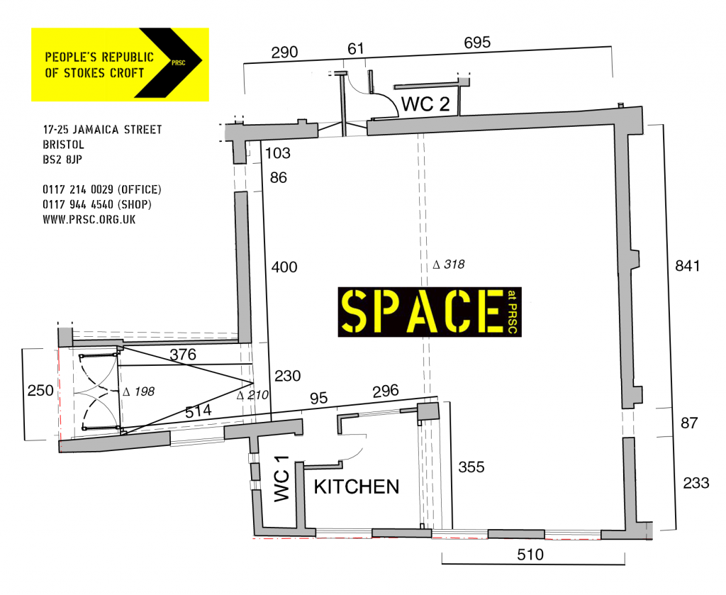 PRSC the Space floorplan events venue community hall