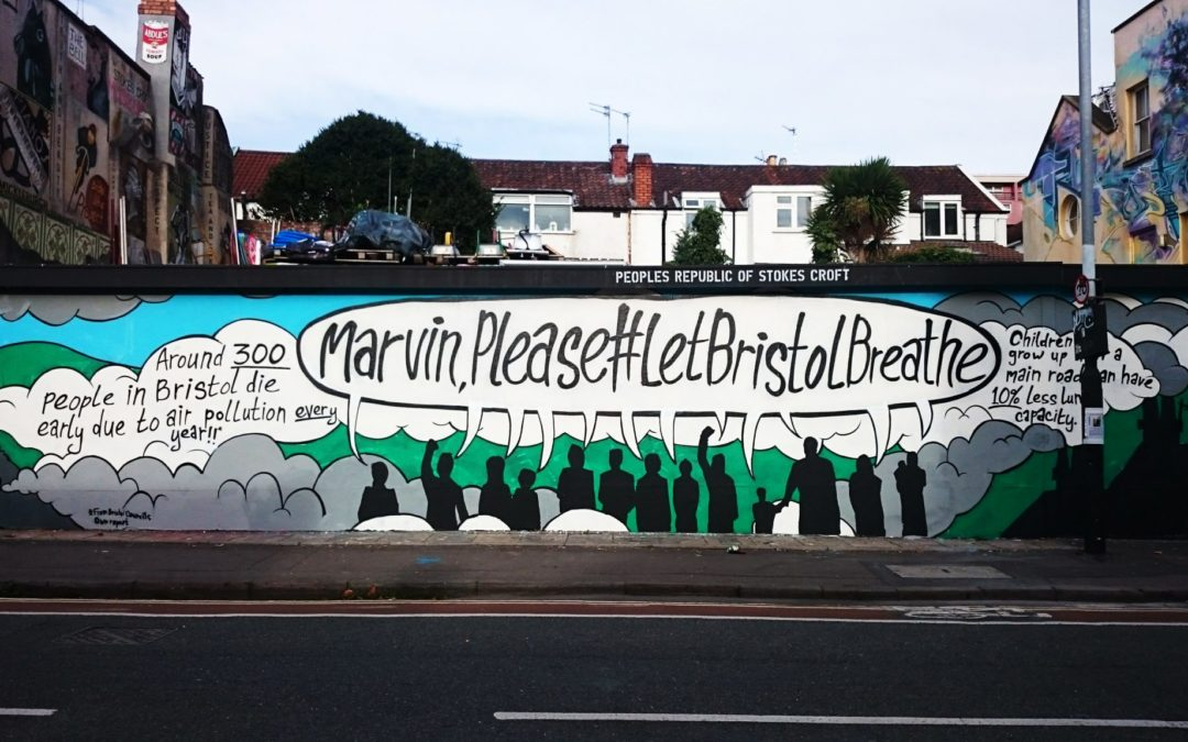 #LetBristolBreathe: campaign groups call for clean air with new street art in the city