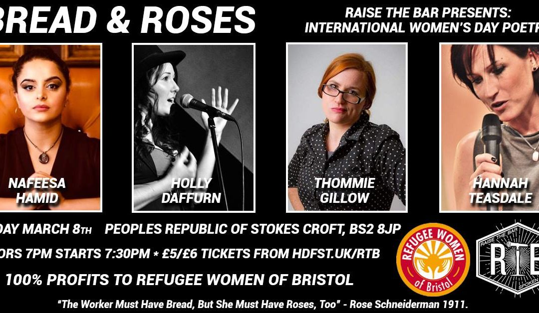 Bread & Roses: International Women's Day Poetry Fundraiser