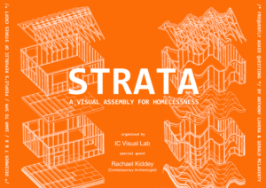 Poster for STRATA: A Visual Assembly for Homelessness with IC Visual Lab