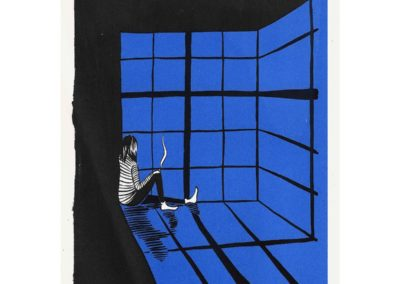 "Sunday Smoker / Beatriz Leonardo / Two colour serigraphy print on Japanese paper / £100 (<a href=""https://www.prscshop.co.uk/products/sunday-smoker-1"" target=""_blank"" rel=""noopener noreferrer"">buy</a>)"