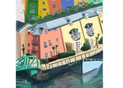 Bristol Harbourside / Naomi Anne Clarke / Giclee Fine Art Print / Not for sale