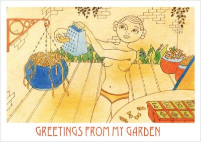 """Postcards from Quarantine"" Garden / Matilda Pack / Set of eight A6 postcards / £15 (<a href=""https://www.prscshop.co.uk/products/postcards-from-quarantine-aka-we-get-it-you-re-a-forager-now"" target=""_blank"" rel=""noopener noreferrer"">buy</a>)"