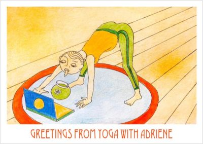"""Postcards from Quarantine"" Yoga with Adriene / Matilda Pack / Set of eight A6 postcards / £15 (<a href=""https://www.prscshop.co.uk/products/postcards-from-quarantine-aka-we-get-it-you-re-a-forager-now"" target=""_blank"" rel=""noopener noreferrer"">buy</a>)"
