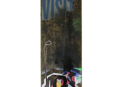 Not Just A Visit / Object... / Mixed media on found wood / Not for sale