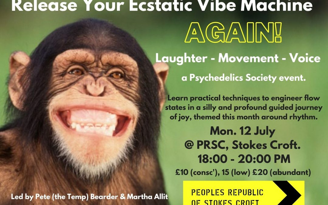 Release Your Ecstatic Vibe Machine: a Guided Journey through Yoga, Laughter & Voice